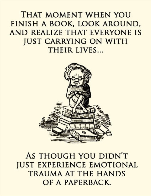Photo: emotional trauma at the hands of a book