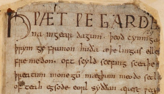 Image: Beowulf Manuscript First Lines