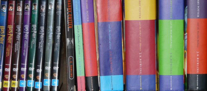 Image: Harry Potter DVDs and Books