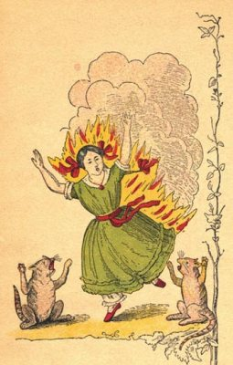 Illustration: Die gar traurige Geschichte mit dem Feuerzeug