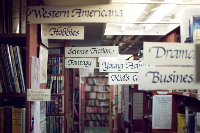 Image: Book Store Genre Labels
