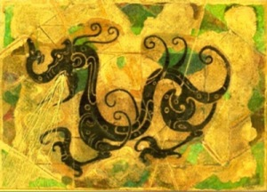 Image: Golden Dragon Illustration