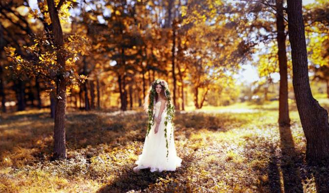 Image: Bride in a Forest