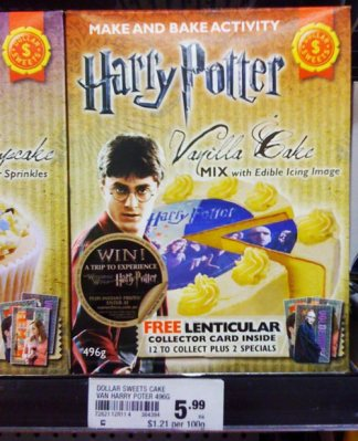 Image: Harry Potter Vanilla Cake Mix