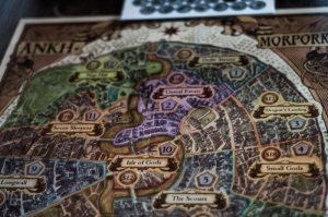 Image: Boardgame with Map of Ankh Morpork (Discworld Novels)