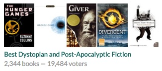 Image: Goodreads Listopia Best Dystopian and Post-Apocalyptic Fiction