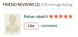 "Image: Goodreads ""Friend Reviews"""