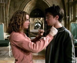 Image: Hermione and Harry with Time Turner