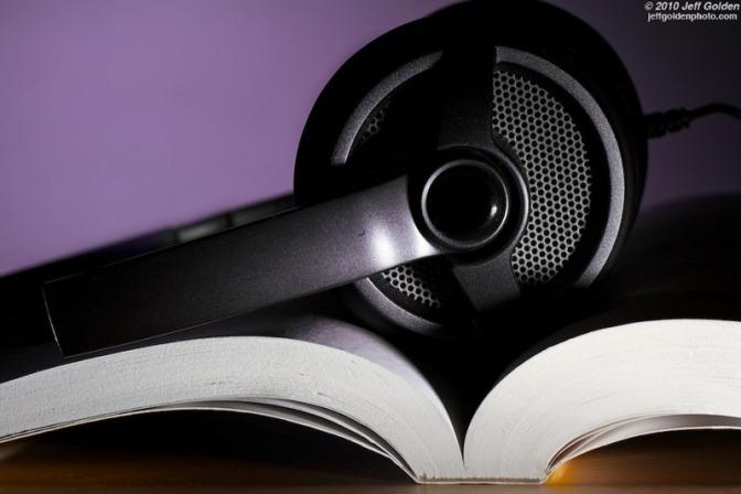 Image: Headphones on Book