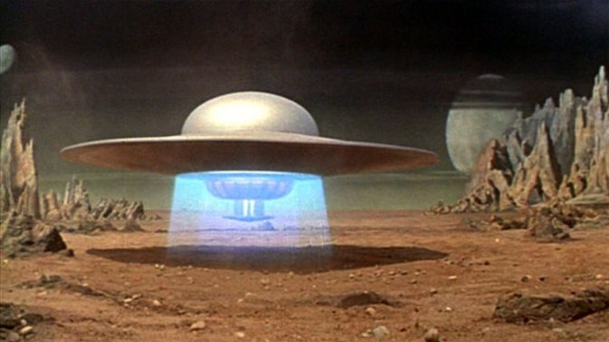 Image: UFO from Forbidden Planet, 1956.