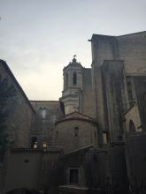 Image: Behind the Girona Cathedral