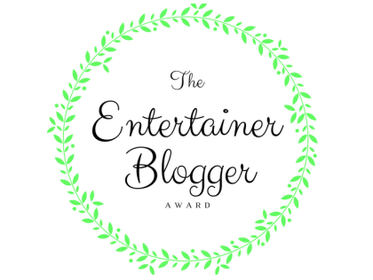 Image: The Entertainer Blogger Award