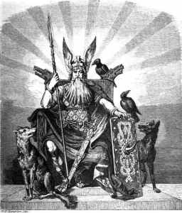 Image: Odin with Ravens Huginn and Muninn