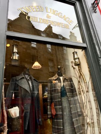 Image: Shop Window Sign - Tweed Luggage & Children's Wear