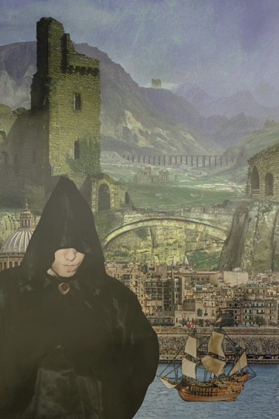 Cliche Fantasy Cover: Hooded Figure