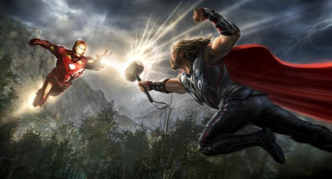 Image: Iron Man vs Thor