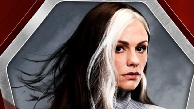 hair white Black streaks with