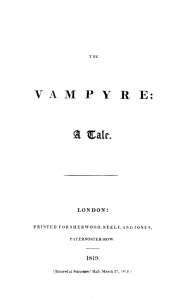 Title Page: The Vampyre