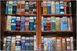 Image: Colourful books with numbers