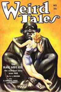 Weird Tales Magazine Cover 1934: Jirel of Joiry Story