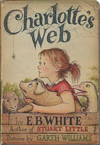 1st edition book cover: Charlotte's Web