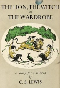 1st edition book cover: The Lion the Witch and the Wardrobe