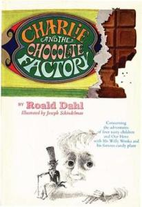 1st edition book cover: Charlie and the Chocolate Factory