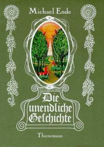 1st edition book cover: Die Unendliche Geschichte (The Neverending Story)