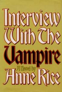 1st edition book cover: Interview with the Vampire