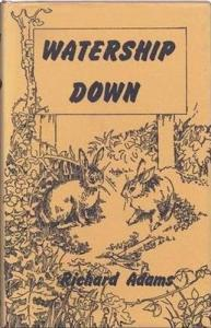 1st edition book cover: Watership Down