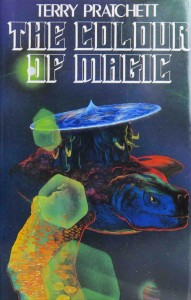 1st edition book cover: The Colour of Magic