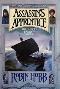 1st edition book cover: Assassin's Apprentice 1995