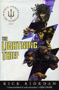 1st edition book cover: The Lightning Thief