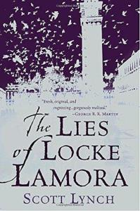 1st edition book cover: The Lies of Locke Lamora