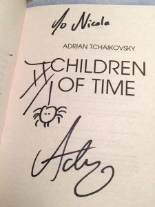 My signed copy of Children of Time