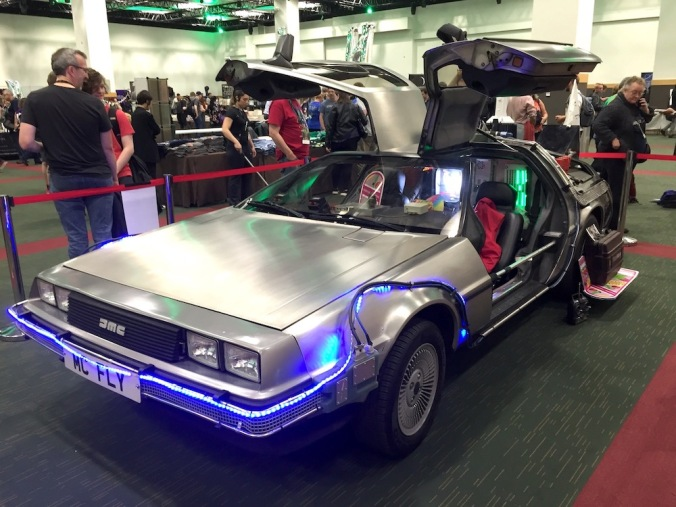 Back to the Future DeLorean in the Dealer's Room