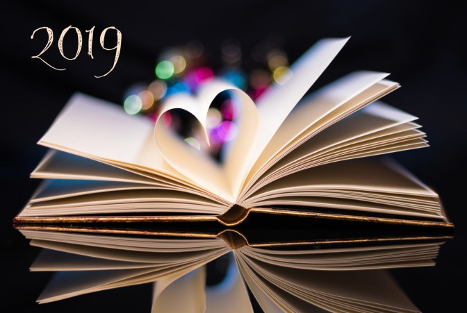 Image: open book with page heart 2019
